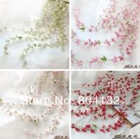HOT 8Pcs/lot Fourteen Colors Korean Artificial Flowers Simulation Hydrangea Vine Five Stems per Flower Cane Wedding Flower
