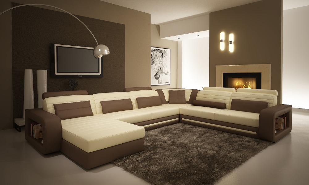 Moderne Woonkamer Set : Moderne woonkamer meubels bank #1005c moderne ...