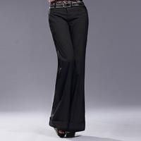 2014 spring black OL outfit quality pants slim suit formal pants long trousers