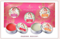 Sweet princess gift  3pcs/sets Balm Lip Balm solid perfume bud cream makeup fast freeshipping