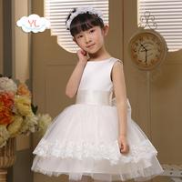 Quality female child princess dress child wedding formal dress big boy costume flower girl one-piece dress puff skirt