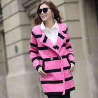 2014 spring plus size sweater outerwear female medium-long sweater female cardigan thickening