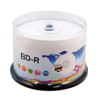 50 Pack Bluray Disc 25GB 130Min BD-R 6x Speed full Printable Blu-Ray Blank Disc