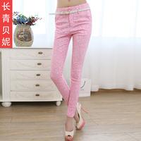 Evergreen 2014 spring female high waist slim elastic pencil pants tights