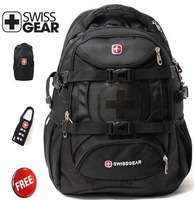 Free shipping SwissGear 15.6 inch laptop bag  Multifunctional  Schoolbag official backpack  9337
