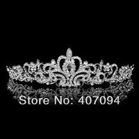 FreeShipping Wholesale (3 pcs /lots)Rhinestone Wedding Tiara Fashion Crystal Bridal Headbands Hair Accessories