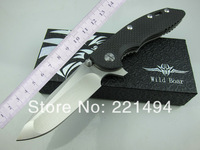 Wanderful Quality Free Shipping  WILD BOAR  Hinderer CTS.XM-18 XM18 D2 steel Carbon fiber + Titanium Alloy handle Folding Knife