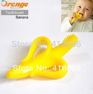 5pcs/lot anneau de dentition pour bébé en peluche jouet de bébé de dentition pour bébé produits pour les dents en forme de banane brosse à dents pour bébé jouets