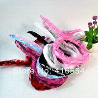 7 colors Lace Fashion Korea Rabbit Bunny Ears Headband  DIY Wire  Scarf Hair Bands Bow Head Wrap dot FREE SHIPPING 20PCS/LOT