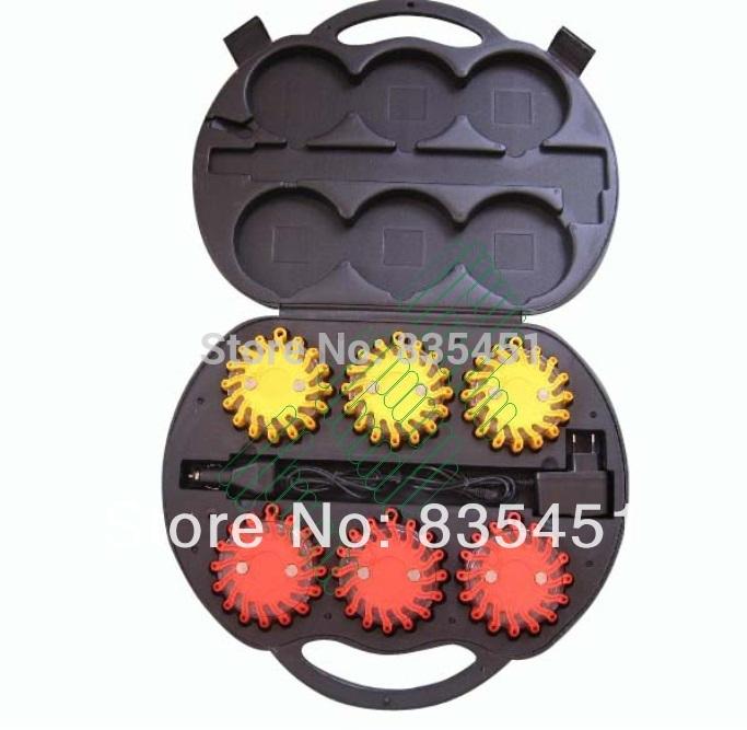 Newtraffic предупреждение огненный шар огни магнитный из светодиодов трафика сигнальная лампа вспышки вспышки 9 видов шаблонов 2 видов зарядки способ 6 цвета