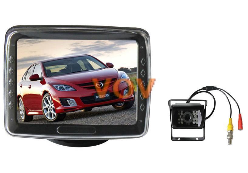 Free shipping! 3.5 inch TFT LCD Car Monitor with Car Reverse Backup Camera !! NO.605(China (Mainland))