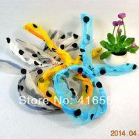 6 colors Mesh Lace Fashion Korea Rabbit Bunny Ears Headbands  DIY Wire Scarf Hair Bands Bow Head Wrap FREE SHIPPING 20PCS/LOT