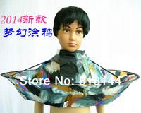1 pcs 2014 New Arrival Kids Hair Cutting Cape Haircut Gown Hairdresser Apron  Dream Graffiti Style Cloak Clothes