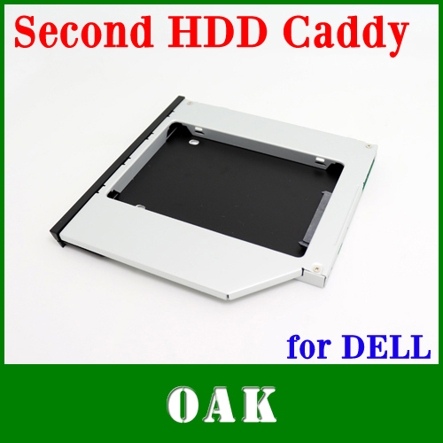 Free DHL - Factory Price Aluminum 12.7mm SATA to SATA Second HDD Caddy Enclosure for Dell E6400/E6500/E4500 - 200pcs(China (Mainland))