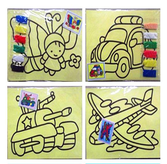 Free shipping DIY Toys,Children sand painting,Color Sand art painting,educational toy, painting set,children study fun HT380(China (Mainland))