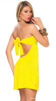 New Arrival Ladies Fashion Solid Sleeveless Sexy Nightclub Party Off Shoulder Dress, Backless Style N056