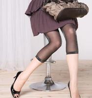2014 fashion shiny 2pcs/lot glitter women footless leggings in black transparent sparkle ribbon hem free ship