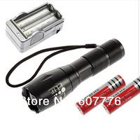 UltraFire E17 Flashlight Cree XM-L T6 2000 Lumen XML LED Light Zoomable Flashlight+2*18650 battery+charger