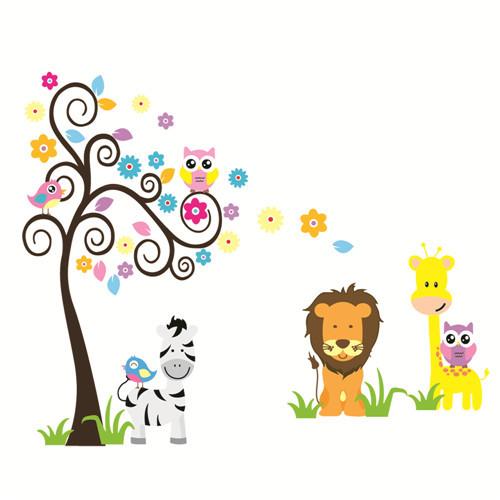 Kinderzimmer Tapete Eule : Online Kaufen Gro?handel wallpaper lion aus China wallpaper lion