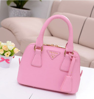 1 piece free shipping  woman Fashion handbag PU Casual Candy Color Brand Name Tote Bag Mini size small girl Shoulder Bag
