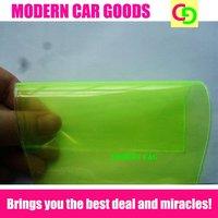 wholesale fast delivery 30cm*10m 3 layers yellow headlight vinyl car wrap foglight tint taillight film