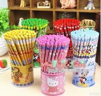 Free shipping1lot=72pcs/korean stationery kawaii cute cartoon students pencil pens hello kity kity cat\ school supplies