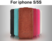 Luxury Vintage PU Flip Leather Case For iphone 5 Mobile Phone cases Bag Leather Cover With fashion Logo For iphone 5S