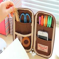Free Shipping! Little girl doll multi-functional makeup bag,Makeup Storage Bag , PU leather Cosmetic Bag