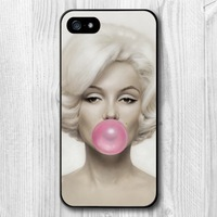 Marilyn Monroe Bubble Gum Hard Cover Case For iPhone 5 5g 5th  Free Shipping