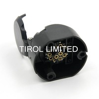 Tirol 13-Pin Trailer Socket  Black Plastic 13-Pole Socket 12V Towbar Towing Socket Vehicle End T12897a Free Shipping