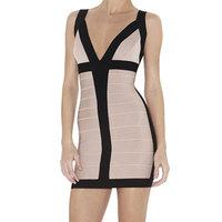 Billie Cheap Bandage Dress Sexy Deep V neck  Sleeveless Wholesale Dresses Women Brand Good Quality Free Shipping