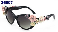 2014 Luxury Brand Women Sun Glasses,Top Quality Shade Sunglasses with Flowers,Charming Glasses For Women Coating Sunglass
