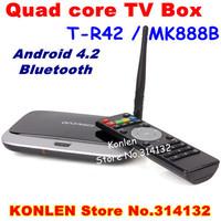 MK888B /T-R42 4.2 Android TV box set wifi RK3188 quad core with USB HDMI RJ45 OTG bluetooth,XBMC Smart TV Media Player