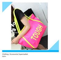 2014 women's handbag candy color neon color big bag letter bag  shoulder casual bag