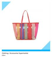 Summer new arrival 2014 crystal transparent  big beach bag rainbow bag women's handbag shoulder bag for women