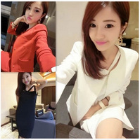 2014 spring one-piece dress fashion all-match pads small suit jacket suspender skirt set female