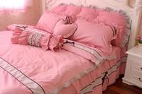 Piece bedding set princess rustic FAIRYFAIR 100% cotton four piece set bedding
