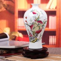 Ceramics famille rose vase eggshell modern home decoration crafts