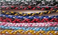 Sale 100pcs 3 Ropes Tornado Germanium Necklace triple Sports necklace Triple Braid Necklace
