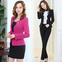 2014 spring ol work wear female skirt women's suit set formal work wear