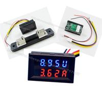 Dual display Meter LED DC 0-200V DC50A Car Motorcycle DC Amp Meter Volt Meter Voltmeter Ammeter 2 in 1 Panel Meter 12V w/shunt