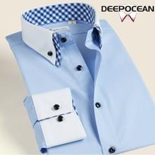 2014 spring mens dress shirts  Long Sleeve Commerce Shirts  Men  Cotton Shirts Men casual shirts(China (Mainland))