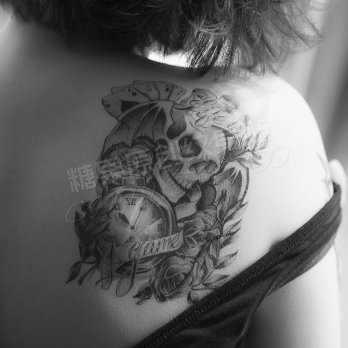 Poker skull tattoo