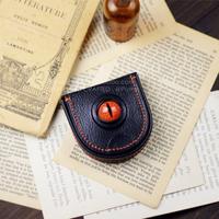 Cowhide caltha coin purse original design handmade leather