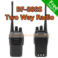2PCS/Lot BAOFENG BF-888S Two Way Radio Walkie Talkie 16CH UHF 400-470 MHz With Earphone Handheld Interphone Free Shipping