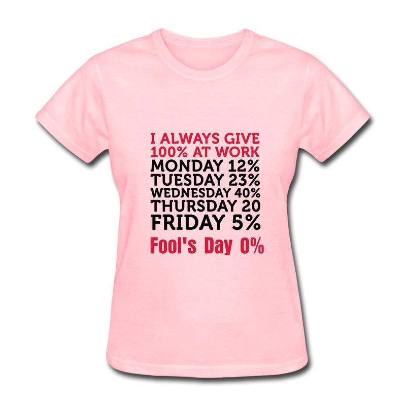 Custom Solid T Shirt Womens 100 Percent At Work Vintage Pics Women's T Shirts Free Shipping(China (Mainland))
