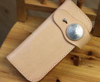 Handmade cloth long design wallet replantation tannages cowhide ben eagle