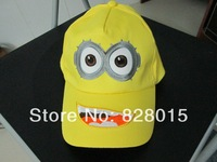 20pcs/lot Hot New arrival Hats 3 Styles Despicable Me Minion hat Anime Minion Dave COSPLAY sun hats for kids gift