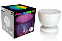 45pcs/ctn Aurora Master 7 Colorful LED Night Light Ocean Daren Waves Projector Lamp sound box audio Speaker with DC adapter