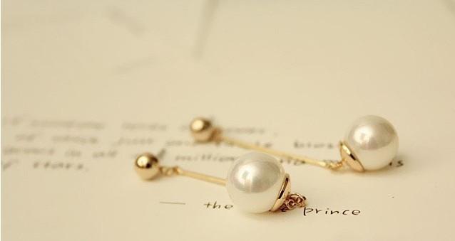 Rose Gold Ball Drop Earrings Crystal Ball Drop Earrings